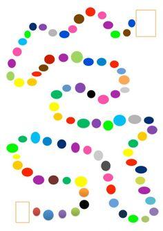 Spielfeld mit Farben