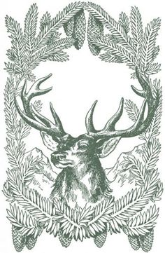 Vintage Christmas stag                                                                                                                                                                                 More