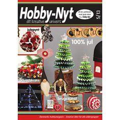 Hobby-Nyt 5-2013 som indeholder kreative idéer for alle aldersgrupper indenfor kreative hobbyidéer, trædrejning og kurvefletning