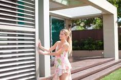 Perfect shade control Louvretec shutters for outdoor alfresco areas Outdoor Pergola, Outdoor Decor, Pergola Ideas, Shade Screen, Alfresco Area, Decks And Porches, Shutters, Melbourne, Shades