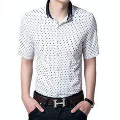 APTRO Men's Cotton Blend Polka Dot Short Sleeves Summer Shirt #02 Blue Dot XS APTRO http://www.amazon.co.uk/dp/B00VUZCV74/ref=cm_sw_r_pi_dp_19oywb1EWPH0Z