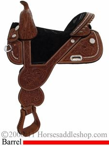 """13.5"""" 14.5"""" 15.5"""" 16.5"""" Circle Y Tammy Fischer Treeless Barrel Racing Saddle 1310 *CIRCLE Y SADDLE PAD FOR 1/2 PRICE OR CASH DISCOUNT!*"""