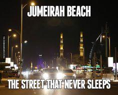 Jumeirah Beach... The Street That Never Sleeps  #dubai #onlyindubai…