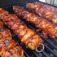 BBQ Chicken Bacon Skewers | Sundays With Jake