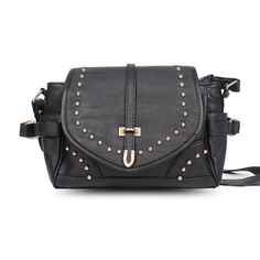 Black Rivet Leather Messenger #Bag Only US$ 5.83. Order Online Here! http://www.oricssonbags.com/Black-Rivet-Leather-Messenger-Bag-p10761.html #LeatherMessengerBag #MessengerBag #Bags