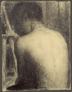 Boy Viewed from Behind - Georges Seurat c.1882-83