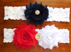 Garter  Wedding Garter  Garter Set  Lace by BloomsandBlessings