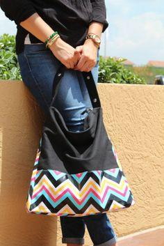 Chevron Hobo Bag www.bayacollections.com
