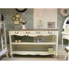 Vintage Chic Console Table