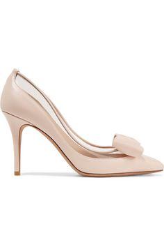 c701dd5bf819 VALENTINO Glassglow PVC 边饰皮革高跟鞋.  valentino  shoes   Pvc Trim