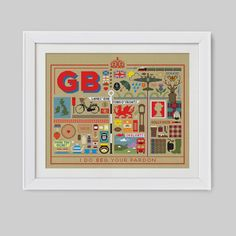 The Great British Sampler Cross Stitch Pattern door Stitchrovia