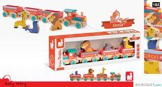 Baby Train Circus Story Jouet en bois Janod
