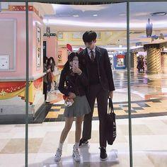 Korean Boys Ulzzang, Cute Korean Girl, Ulzzang Couple, Ulzzang Girl, Asian Girl, Tall Boy Short Girl, Tall Boys, Short Girls, Korean Couple