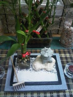 Miniature Zen Garden, Orchids Garden, Sandbox, Zen Gardens, Miniatures, Home Decor, Plants, Litter Box, Decoration Home