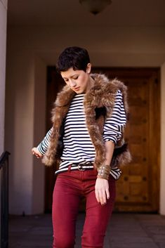 16a1bbb97d94 I must have this entire outfit! Black Fur Vest