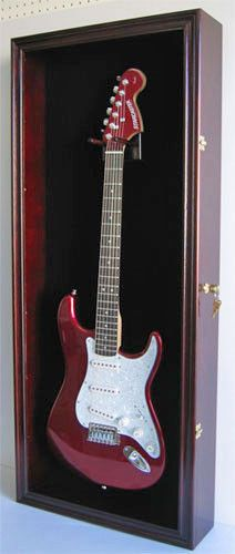 Fender / Electric Guitar Display Case Wall Cabinet, Door With Lock