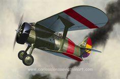 Polikarpov I-15, Spanish Republican Air Force, 1937.