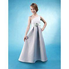 LAKELAND - Vestido de Damita de honor de Satén – USD $ 79.99