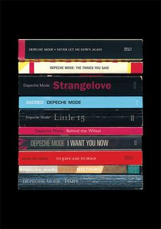 Depeche Mode - 'Music for the Masses' Art Print Albums As Books