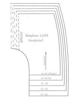 Nähanleitung Babyhose Puppenhose LUCA Gr. 42-62 - Schnittmuster und Nähanleitungen bei Makerist