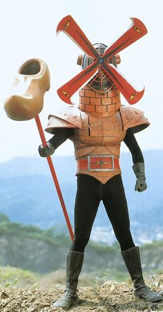 Power Ranger villain that looks like a windmill Japanese Monster Movies, Japanese Superheroes, Retro Futurism, Vintage Japanese, Half Japanese, Power Rangers, Kitsch, Illustration, Sci Fi