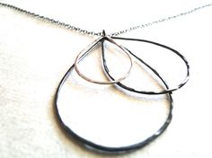 Raindrop Necklace  Sterling Silver by fruitionLA on Etsy