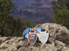 TUSAYAN, ARIZONA - Grand Canyon Half Marathon 2016 medal - photo by Halfmarathonsearch.com Half Marathon Calendar USA Paul C