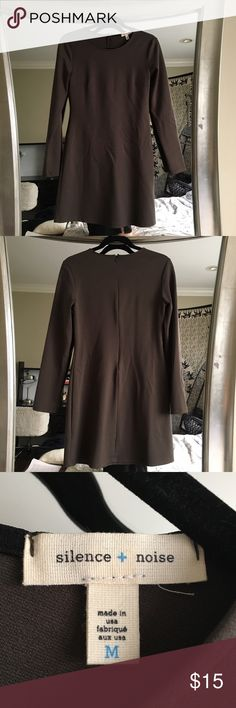 Urban Outfitters Brown Army Green Longsleeve Dress in amazing contain never worn dress from urban outfitters - material is thick and great quality very comfortable NO TRADES Urban Outfitters Dresses Long Sleeve