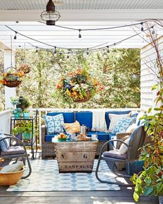 An adorable decorating plan for the interior of a backyard she shed.