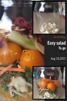 Mezcla vegetales de tu gusto, con aderezo, feta cheese, almendras y cramberries secas...