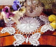 toalha em croche borboletas em croche com receitas
