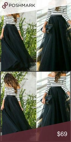 Off shoulder 2 piece dress Xl available... Long skirt and off the shoulder top very cute.. Well made i also have this listed on ♏ercari for less 😄 boutique Dresses One Shoulder