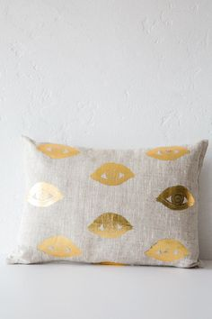 lucky fish 'I see you' pillow