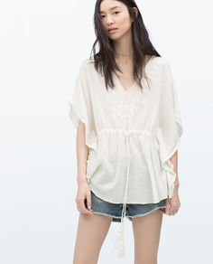 Image 4 of EMBROIDERED TOP from Zara