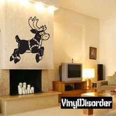 Reindeer Wall Decal - Vinyl Decal - Car Decal - 119