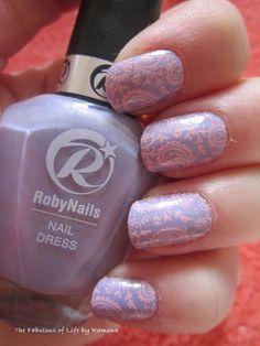 Nail art stamping pastel spring #stamping #pastel #spring #bornpretty #nailart #nailartstamping #pink #lilac