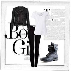 """black & white"" by jamieengels ❤ liked on Polyvore"
