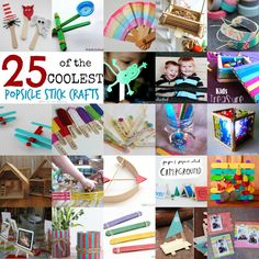 Teach Me Tuesday: 25 of the Coolest Popsicle Stick Crafts