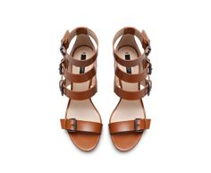 ZARA - NEW COLLECTION - HIGH HEEL SANDAL WITH WIDE STRAPS