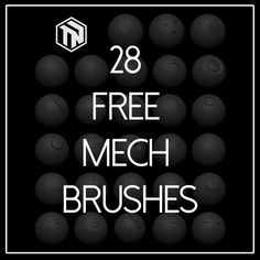 Zbrush: 28 Free Mech Brushes, Tom Newbury on ArtStation at https://www.artstation.com/artwork/zbrush-28-free-mech-brushes