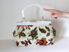 Vintage 1970s Floral Carpetbag Handbag by PeppermintandCocoa, $13.00