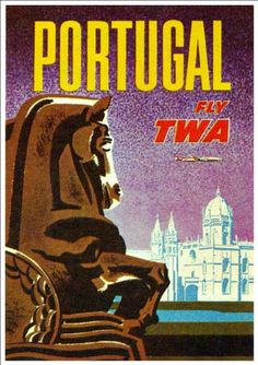 Fantastic A4 Glossy Print - 'TWA - Portugal' - Taken From A Rare Vintage Travel Poster (Vintage Travel / Transport Posters) by Unknown http://www.amazon.co.uk/dp/B005V4CJMM/ref=cm_sw_r_pi_dp_OnYovb1E10D6E