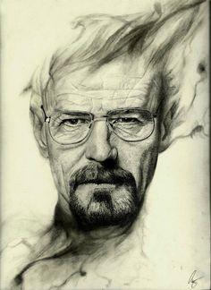 """""""Walter White"""" by AldrinZ [=> http://aldrinz.deviantart.com/art/Walter-White-394808495 ]"""