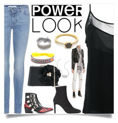"""Power Look"" by denisee-denisee ❤ liked on Polyvore featuring Olympiah, Givenchy, Samantha Wills, Kendra Scott, Rendor & Steel, Toga, Giuseppe Zanotti, Lanvin, Shourouk and Burberry"