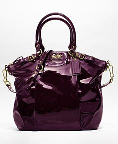 COACH MADISON PATENT LINDSEY SATCHEL - Only because it's patent leather, and it's purple :) $428