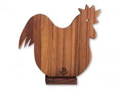 tagliere legno gallo