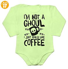 I'm Not A Ghoul, I Just Really Like Coffee Baby Long Sleeve Romper Bodysuit Extra Large - Baby bodys baby einteiler baby stampler (*Partner-Link)