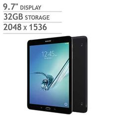 Samsung Galaxy Tab S2 Wi-Fi Tablet - Octa Core - Android Marshmallow - Black - Includes Book Cover