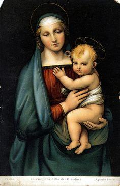 Raffaello - Madonna del Granduca - olio su tavola - 1504 circa - Galleria Palatina di Palazzo Pitti a Firenze.