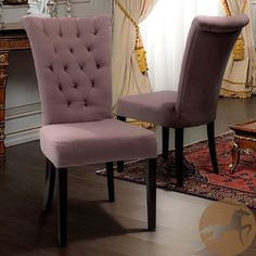 @Overstock - These parlor tufted fabric dining chairs will add the perfect touch of class to any room in the house. These chairs are more than just elegant to look at, as their hardwood construction and lush padding provide comfort and stability.http://www.overstock.com/Home-Garden/Parlor-Tufted-Fabric-Dining-Chairs-Set-of-2/6501955/product.html?CID=214117 $248.99